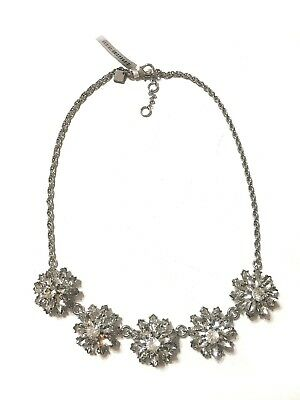 Beautiful New Silver Necklace with Understated Stones by Banana Republic #BRN5