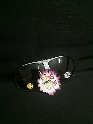 Baby Toddler Child Sunglasses 400 UV Protection Visor Style Black And Silver