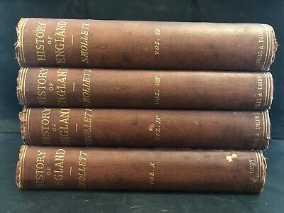 History Of England Volume 7,8,9,10 - Hume & Smollett, Bell & Daldy - 1866
