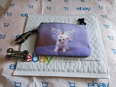 NEW! C. Marie Collection Puppy Coin Makeup Purse Rhinestones