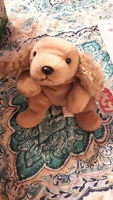 31b929cce79 MWMT 1997 RARE RETIRED Spunky The Dog Cocker Spaniel Ty Beanie Baby ...