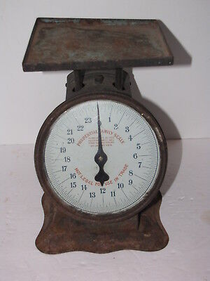 Vintage Prudential Family Kitchen Scale Great Patina