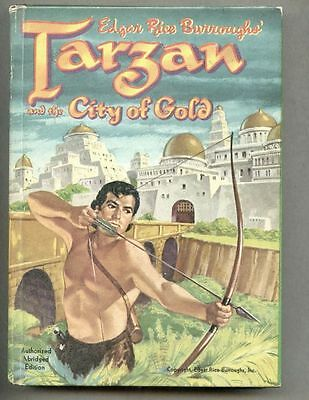 Tarzan And The City Of Gold Hardcover Book 1954 edition HC WHITMAN #1533