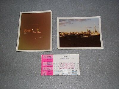 Genesis July 1978 Concert Ticket Stub Toronto Canada CNE with Original Photos