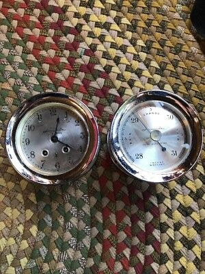 Airguide Ships Bell Clock And Barometer