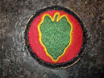 WWII US ARMY 24th INFANTRY DIVISION SHOULDER PATCH WORN