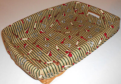 Hostess Serving Tray Liner fits Longaberger, Cookie Cutout (Basket not included)