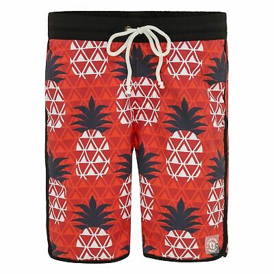 Red Geo Pineapple Board Shorts