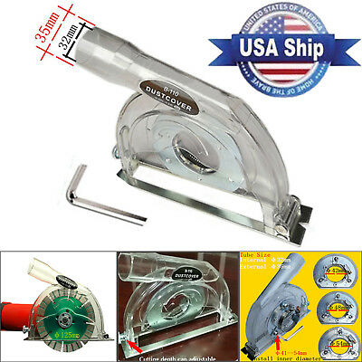 US Clear Cutting Dust Shroud Cover for 4/5 Hand Angle Grinder & 3/4/5 Saw Blades