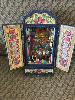 Signed contemporary art, Nicario Jimenez, retablo, folk art,