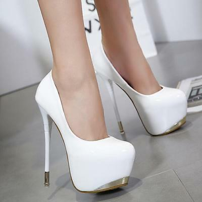 Sexy Women Classic Round Toe Platform 18cm Super High Heels Party Leisure Shoes