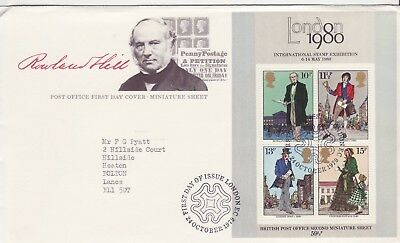GB Stamps First Day Cover Death Centenary Rowland Hill MS, SHS Maltese Cross1979