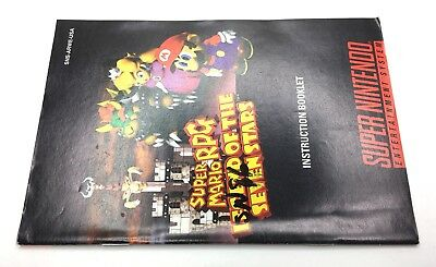 SNES Super Mario RPG Instruction Booklet Manual Only *Authentic* *No Game*