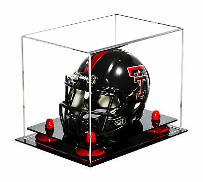 d76f6d9e935 Clear Mini (not Full Size) Football Helmet Display Case with RedRisers  (A003-