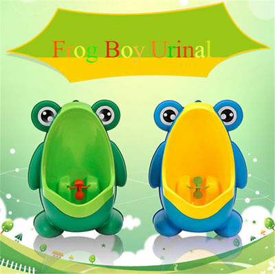 Green  Frog Children Potty Toilet Training Kids Urinal Baby Boys Pee Trainer UK