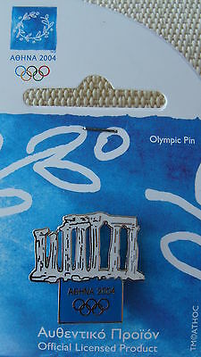 Ancient Temple  - Athens 2004 Olympic Pins Made By Trofe Themes From Greece