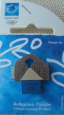Ancient Olympia Gate - Athens 2004 Olympic Pins Made By Trofe Themes From Greece