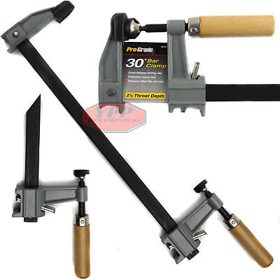 "Bar Clamp 30"" Heavy Duty Adjustable Quick Release Jaw Wooden Handle Woodworking"