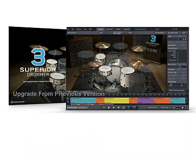 Toontrack Toon Track Superior Drummer 3.0 Upgrade Drumming Software Pc/mac Licen