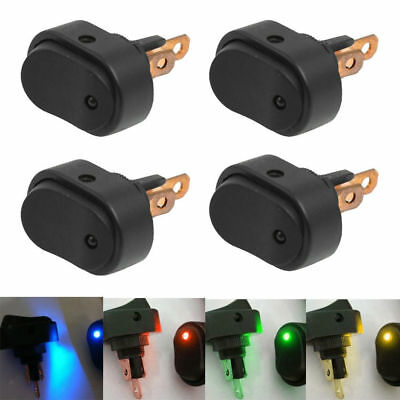 4x 30AMP Heavy Duty OFF/ON Rocker Switch For Boat Marine Multicolor LED