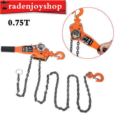 0.75 Ton Ratcheting Lever Block Chain Hoist Come Along Puller Pulley 750 kg