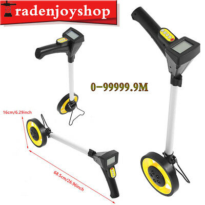 LCD Digital Distance Measuting Wheel With Stand for Surverors Workers Road Land