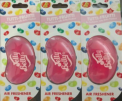 Jelly Belly 3D  Air Freshener - Tutti-Fruitti x 3 Packets  New & Sealed