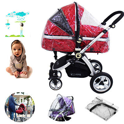 Universal Clear Rain Cover Raincovers for Pushchair Pram Stroller buggy UK