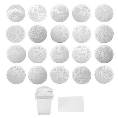 Clear Nail Art Image Stamp Template Plates Polish Stamping Manicure DIY Design