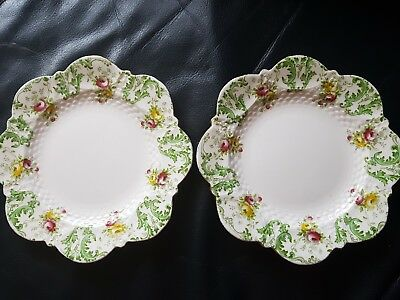 Aynsley Pair of Small Plates Victorian C.1899 18cm