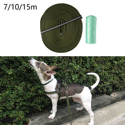 Dog Leash Pet Puppy Walking Training Lead Traction Obedience Strap Rope 7/10/15m
