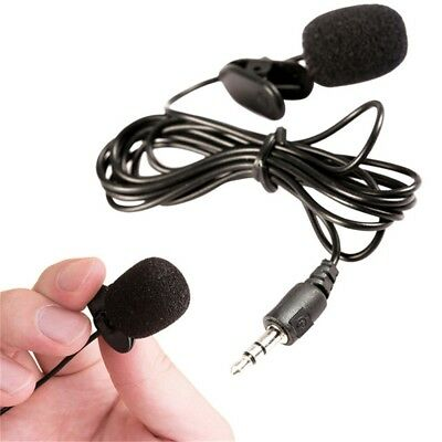 Mini Clip On Lapel Microphone Hands-free Wired Condenser Lavalier Mic 3.5mm