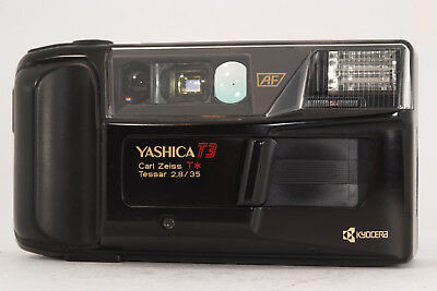 Yashica T3 mit Carl Zeiss T* Tessar 2,8/35mm Point And Shoot Funktionsgeprüft