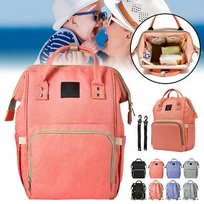 Waterproof Nappy Travel Backpack Multi-Function Diaper Bag with Straps BB023