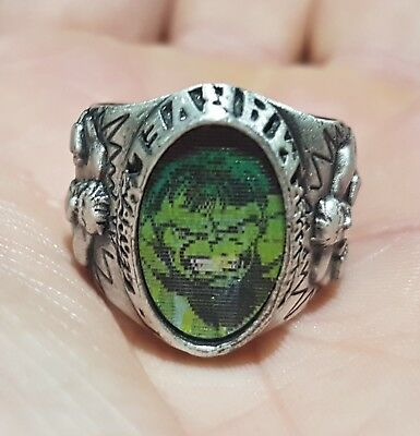 Rare Marvel Incredible Hulk Hologram Ring 2004 Collectable