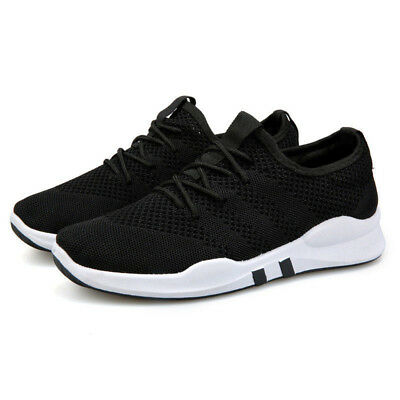 New Mens Women Breathable Trainers Lace Up Sport Running Gym Sneakers Shoes Size