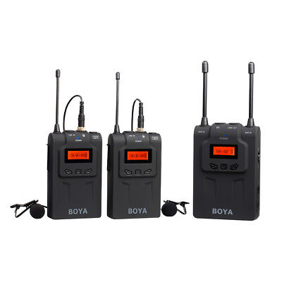 BOYA BY-WM8 UHF Wireless Microphone System for DSLR Camera Video Camcorder LF778
