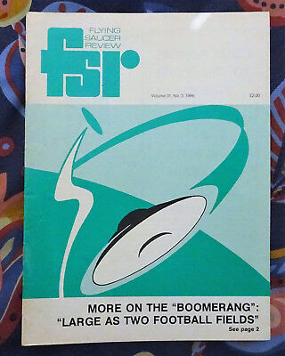 FLYING SAUCER REVIEW MAGAZINE Vol 31 No.3 1986 Massive Boomerang UFO New York
