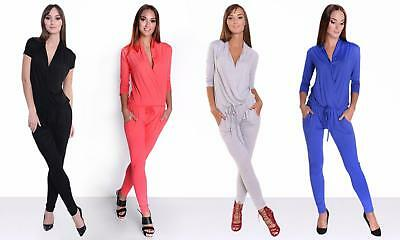 0b45d6be3c01 Damen Clubwear Overall Jumpsuit Playsuit Hosenanzug Romper Cocktail  Strampler