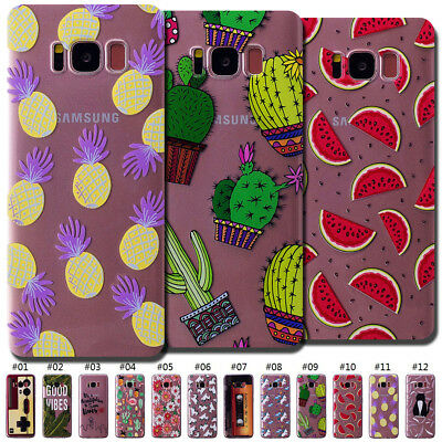 For Samsung Galaxy S8/G950 Gel Clear Case Cover TPU Silicone Pattern Rubber Skin