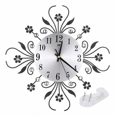 Modern Flower Style Clock Pendulum Wall Clock Hanging Home Kitchen Decor UK