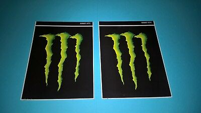 2 Monster Energy drink stickers Monster Energy claw logo