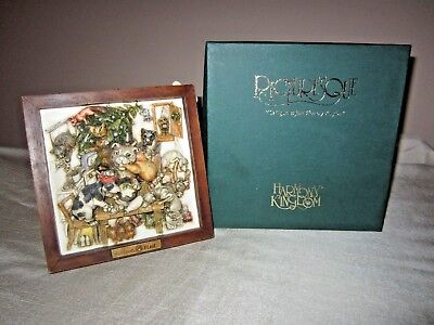 """Harmony Kingdom """"Ruffians' Feast"""" Picturesque Tile Figurine Wall or Table Plaque"""