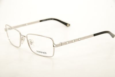 698bdff65d0 New Authentic Versace Mod 1150-B 1000 Silver Black 51mm Eyeglasses RX Italy