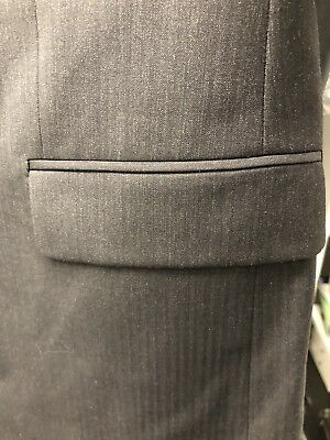 HUGO BOSS Charcoal 100% Virgin Wool Suit 42R Two Button: Halsey2/Merrill2 Slim