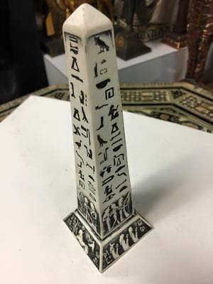 Unique Egyptian Hand  Carved  Obelisk  6'' H  Made In Egypt