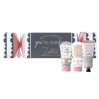 Zoella You're Cracking Beauty Gift Set Christmas Cracker With 3 Beauty Treats BN
