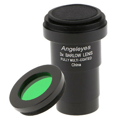 3X Telescope Eyepiece Barlow Lens with Filter for Astronomical Photography
