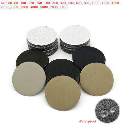 2'' 50mm Wet or Dry Sanding Discs Hook & Loop Sandpaper Sander Pad 60-10000 Grit