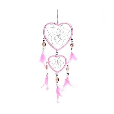 "17"" Traditional Pink Dream Catcher with Feathers Wall or Car Hanging Ornament..."